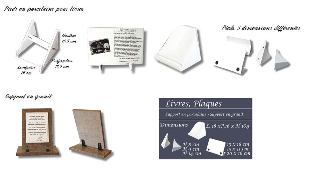 Supports plaques