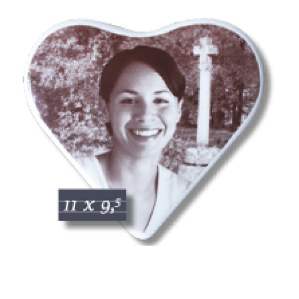 Coeur sépia 11x9,5